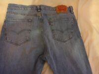 Levi's 510 jeans in light blue 34w 32l