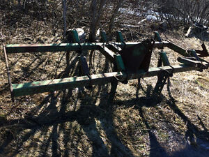 spring tooth harrows, 3pth planter, calf feeder, metal baskets