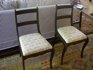 2 Attractive Dining Room Chairs