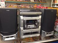 Aiwa stereo system CD player twin tape deck and record player