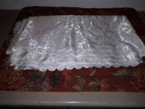 Large Piece Of Material Many Uses . Table Cloth / Dress  Etc.
