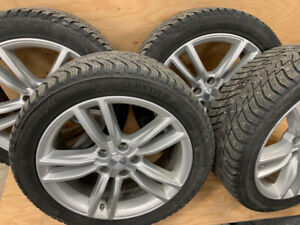 "Tesla 19"" Factory Wheels w Nokian Hakkapeliitta Winter Tires"