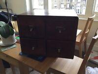 Vintage antique wooden filing cabinet