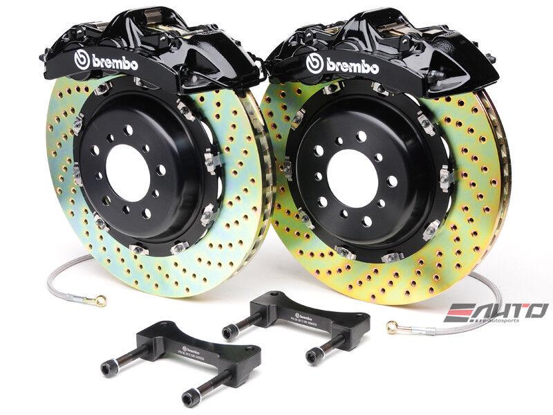 Brembo Front Gt Brake 6pot Caliper Black 380x32 Drill Disc Rotor Is250 14+ Rwd