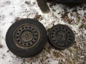 2005 Chevy impala tire and 2 rims