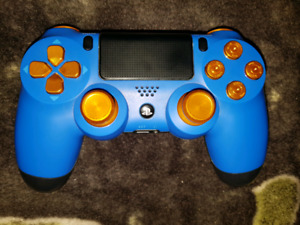 Blue/Gold Custom ps4 contoller