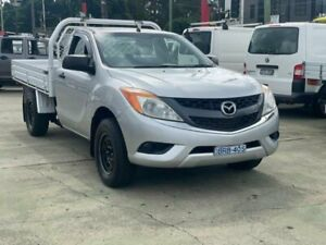 2012 Mazda BT-50 XT (4x2) Silver 6 Speed Manual Cab Chassis Clyde Parramatta Area Preview