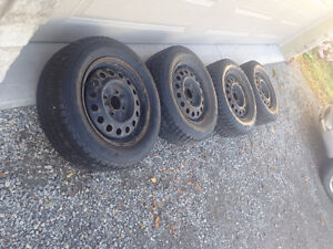 4/ HONDA ACCORD  STEEL RIMS & WINTER TIRES