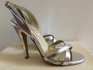 Jimmy Choo, London, Silver Heels-Size 35, original box!