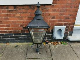 Large reclaimed Victorian style lamp tops/ street light/lantern garden
