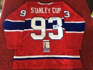 AUTOGRAPHED STANLEY CUP MONTREAL CANADIANS HOCKEY JERSEY COA