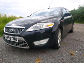 Black 2008 ford mondeo titanium x