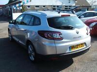 2012 Renault Megane 1.5dCi Dynamique TomTom Estate 5d **£20 Tax**