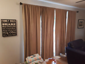 faux suede beige curtains