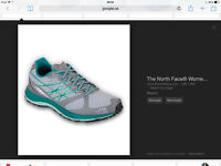 The north face womens ultra trail running shoes size 7 (new)