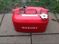 23 litre Suzuki outboard engine fuel tank metal