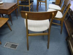 MCM  FOUR FARSTRUP TEAK BACKED DINING CHAIRS Peterborough Peterborough Area image 4