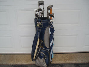 MEN'S GOLF CLUBS, FULL METAL SET, + LARGE BAG + TRAVEL BAG