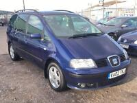 2002/02 Seat Alhambra 1.9TDi PD SE LONG MOT EXCELLENT RUNNER