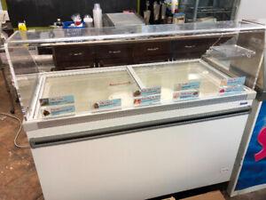 Ice Cream Freezer with ice cream