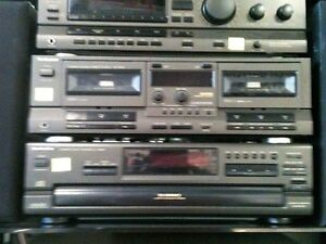 TECHNICS Receiver-- 5 Disc CD--- Cassette Deck---With Speakers