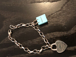 Genuine Tiffany & Co. charms! Shopping bag and heart lock!
