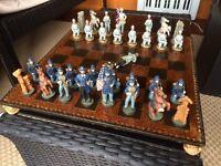 Chess set + board