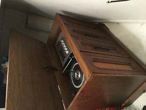 Table or cabinet with stereo center
