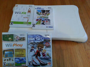Wii fit board with four games