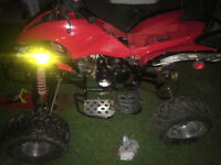 Quad with battery