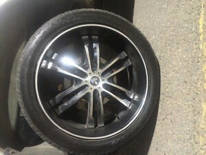 24 inch deep dish dub series rims (black)