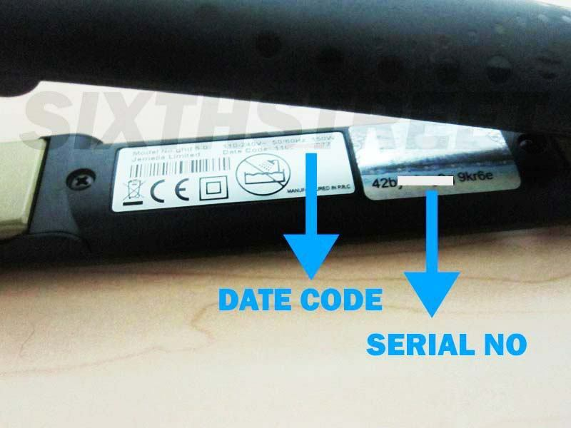 Real GHD's have a date code and a hologram serial number on tne appliance