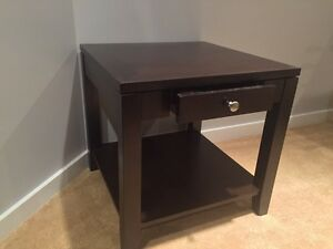 Solid wood side table Strathcona County Edmonton Area image 1