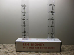 LEN DIGNEY SEED DRILL & DISCER GAUGE BACK BY POPULAR DEMAND
