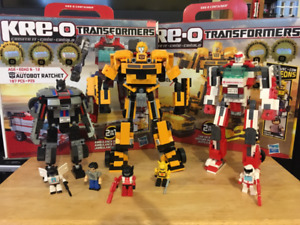 Kreo Transformers Lego compatible. Ratchet, Jazz and Bumblebee