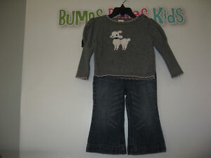 Girl's 18/24 (Gymboree/Gap) Sweater and Jeans London Ontario image 1