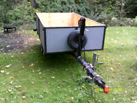 4X8 utility trailer with winch