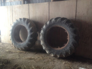 1 pair of clamp on duals, 20.8x38 Goodyear