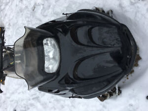 """2001 Arctic cat mountain cat 800, 151 x 2.6"""" track, with parts"""