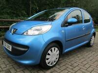 06/06 PEUGEOT 107 URBAN SEMI-AUTO 5DR HATCH IN MET BLUE WITH ONLY 50,000 MILES