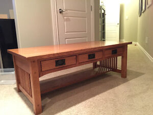 Arts and Crafts Solid Quarter Sawn Oak Coffee Table