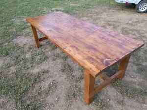 Big harvest style table. Extremely solid, handmade. Peterborough Peterborough Area image 5