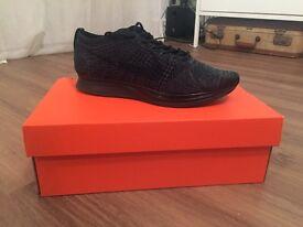 Nike Flyknit Racer Blackout Size 7 uk