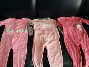 18 months Girls Sleepers and PJ Lot