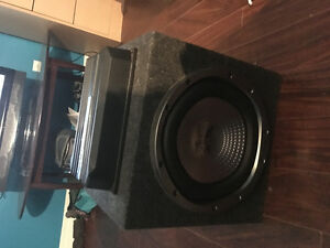 1200 watt Sony sub with 500 watt Sony  am