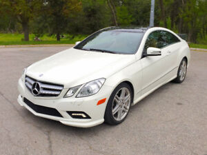 2011 Mercedes-Benz E-350 Coupe, AMG pkg, Panoramic Sunroof, Nav