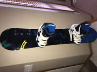 Brand new Burton snowboard, boots and bindings, never used.