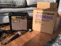 Yamaha GA-10 Ampifier with microphone
