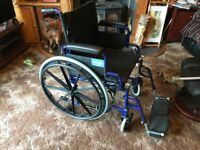 Aidapt wheelchair blue New