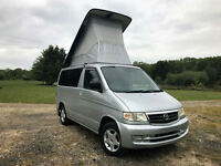 FRESH IMPORT 2000 MAZDA BONGO 2.5 DIESEL TURBO 4WD AUTO ELEVATING ROOF CAMPERVAN
